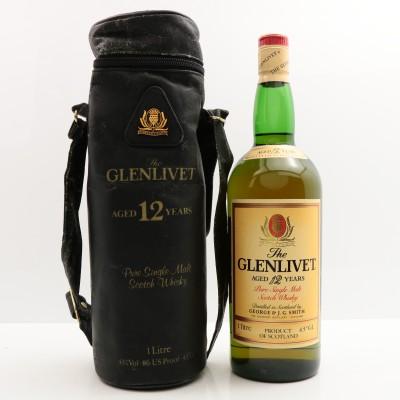 Glenlivet 12 Year Old 1L in Leather Case