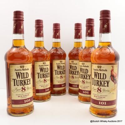 Wild Turkey 8 Year Old 101° Proof x 6