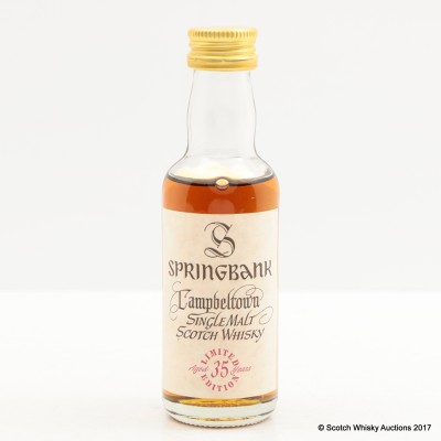 Springbank 35 Year Old Millennium Collection Mini 5cl