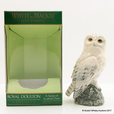 Whyte & Mackay Snowy Owl Ceramic Decanter 20cl