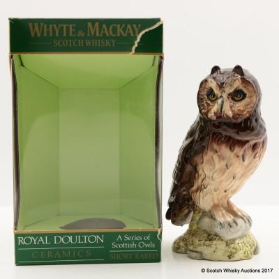 Whyte & Mackay Short-Eared Owl Ceramic Decanter 20cl