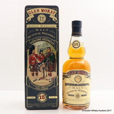 Glen Moray 15 Year Old Highland Regiments The Queen's Own Cameron Highlanders