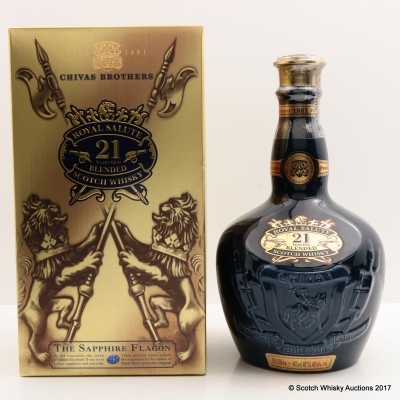 Chivas Royal Salute 21 Year Old Sapphire Flagon
