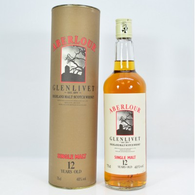 Aberlour Glenlivet 12 Year Old In Tube 75cl