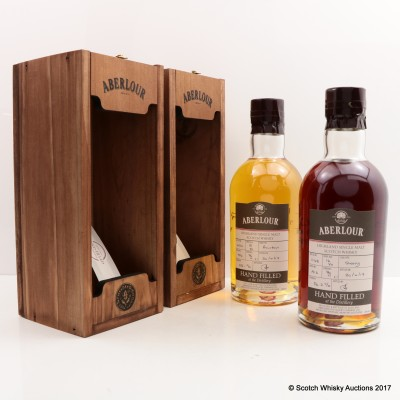 Aberlour 13 Year Old Hand Filled Bourbon Cask & Aberlour 16 Year Old Hand Filled Sherry Cask 2 x 70cl