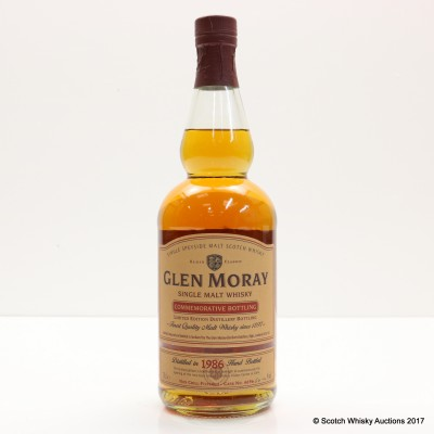 Glen Moray 1986 Commemorative Bottling