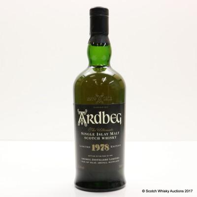 Ardbeg 1978 1999 Release Low Proof