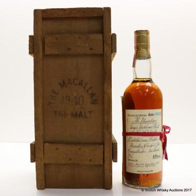 Macallan 1940 Gordon & Macphail 75cl