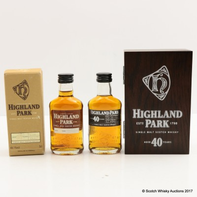 Highland Park 40 Year Old Mini 5cl & Highland Park 30 Year Old Mini 5cl
