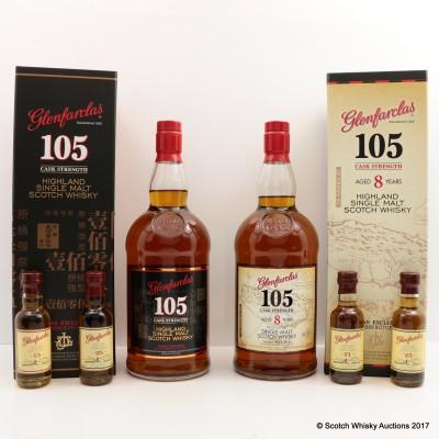 Glenfarclas 105° 8 Year Old 1L & Minis 2 x 5cl Taiwan Exclusive Batch 1 & 2