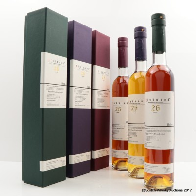 Linkwood 1981 26 Year Old Port Cask, Rum Cask & Red Wine Cask 3 x 70cl