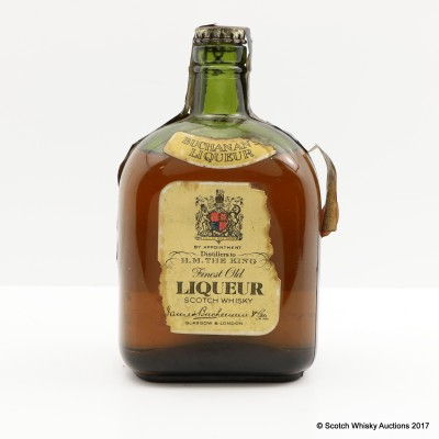 Buchanan's Finest Old Liqueur Scotch Whisky Spring Cap 1/6 Gallon