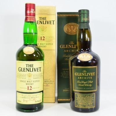 Glenlivet Archive Special Edition & Glenlivet 12 Year Old