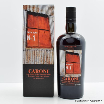 Caroni 2000 15 Year Old Single Cask Heavy Trinidad Rum