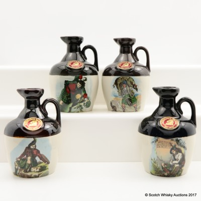 Rutherford's Ceramic Montrose Decanters x 4