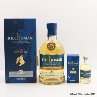 Kilchoman 100% Islay Inaugural Release & Mini 5cl