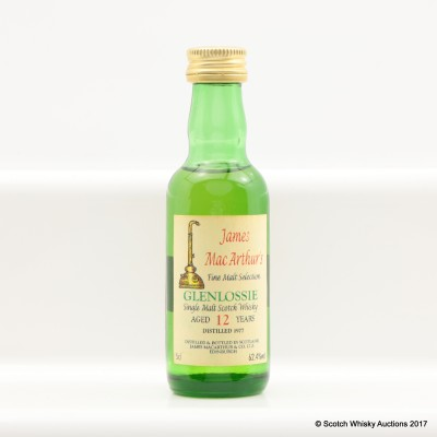 Glenlossie 1977 12 Year Old James MacArthur's Mini 5cl