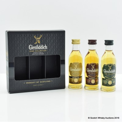 Glenfiddich Cask Collection Minis 3 x 5cl
