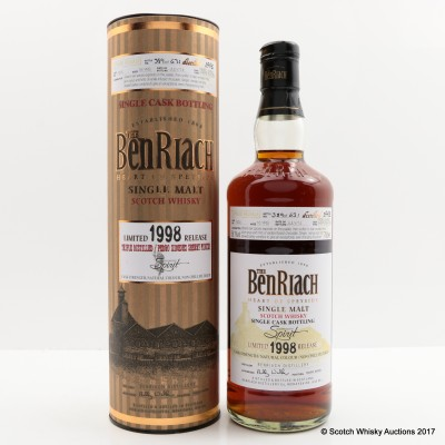 BenRiach 1998 16 Year Old Single Cask #7630