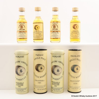 Assorted Signatory Minis 4 x 5cl including Dufftown 1979 Mini 5cl