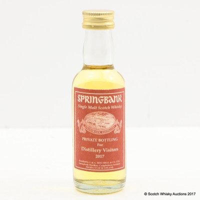 Springbank Distillery Visitors Mini 2017 5cl