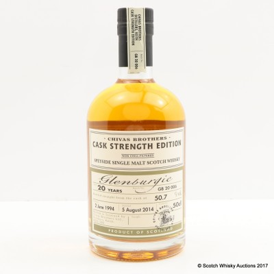 Glenburgie 1994 20 Year Old Chivas Brothers Cask Strength Edition 50cl