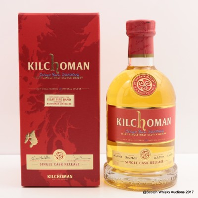 Kilchoman 2008 Single Cask Release for Islay Pipe Band