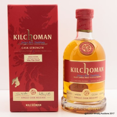 Kilchoman 2010 Single Cask Release for Islay Pipe Band