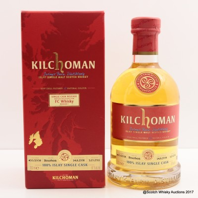 Kilchoman 2008 Single Cask Release for FC Whisky Denmark