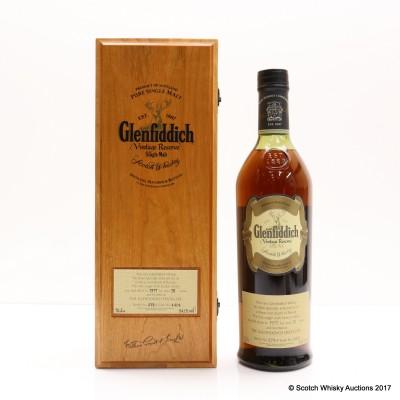 Glenfiddich 1977 31 Year Old Vintage Reserve