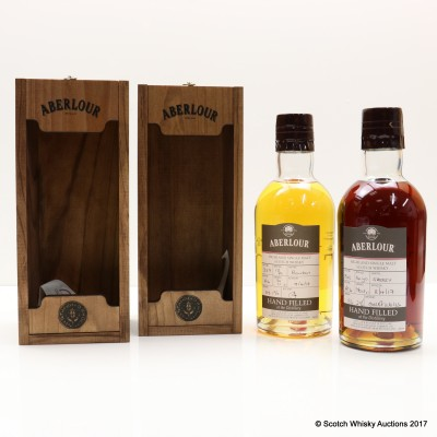 Aberlour 16 Year Old Hand Filled Sherry Cask & Aberlour 13 Year Old Hand Filled Bourbon Cask 2 x 70cl