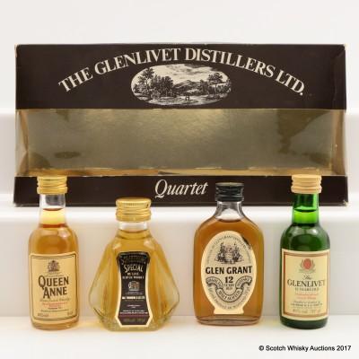 Glenlivet Quartet & Gordon & Macphail Mini Set 4 x 5cl