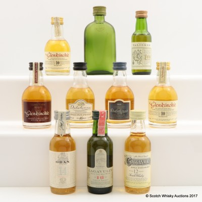 Assorted Minis 10 x 5cl Including Lagavulin 16 Year Old Mini 5cl