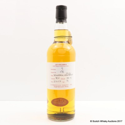 Springbank 2007 9 Year Old Local Barley Duty Paid Sample