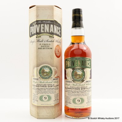 Glenrothes 2004 9 Year Old Provenance