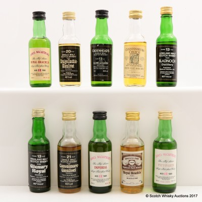 Assorted Minis 10 x 5cl Including North Port-Brechin 1970 Connoisseurs Choice 5cl