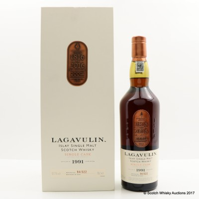 Lagavulin 1991 Single Cask 200th Anniversary Edition