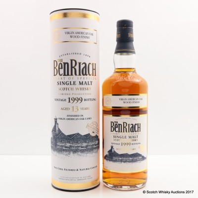 BenRiach 1999 13 Year Old Virgin American Oak Wood Finish