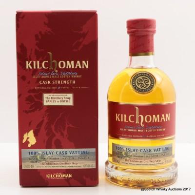 Kilchoman 100% Islay Cask Vatting for The Distillery Shop