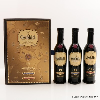 Glenfiddich Age Of Discovery Collection 3 x 20cl