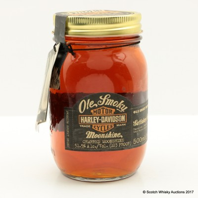 Ole Smoky Harley Davidson Charred Moonshine Commemorative Jar 50cl