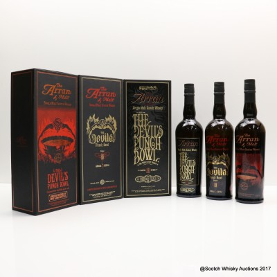 Arran Devil's Punchbowl Set 3 x 70cl