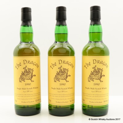Highland Park 1990 19 Year Old Three Sisters Set 3 x 70cl