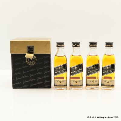 Johnnie Walker Black Label Minis 4 x 5cl