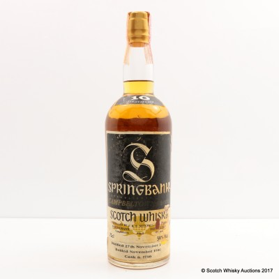 Springbank 10 Year Old Old Style 75cl