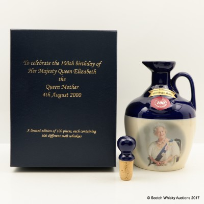Rutherford's Ceramic 100th Birthday Of The Queen Mother