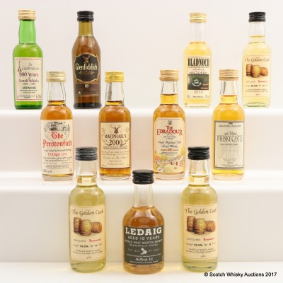 Assorted Minis 11 x 5cl Including Bowmore 11 Year Old Golden Cask