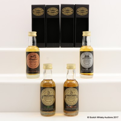 Assorted Campbeltown Minis 4 x 5cl Including Springbank 15 Year Old