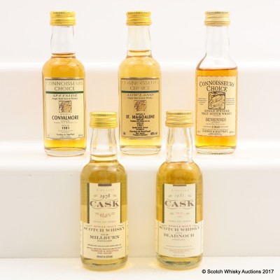 Assorted Gordon & Macphail Minis 5 x 5cl Including St.Magdalene 1981