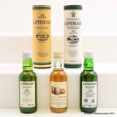 Assorted Laphroaig Minis 3 x 5cl Including Laphroaig 10 Year Old